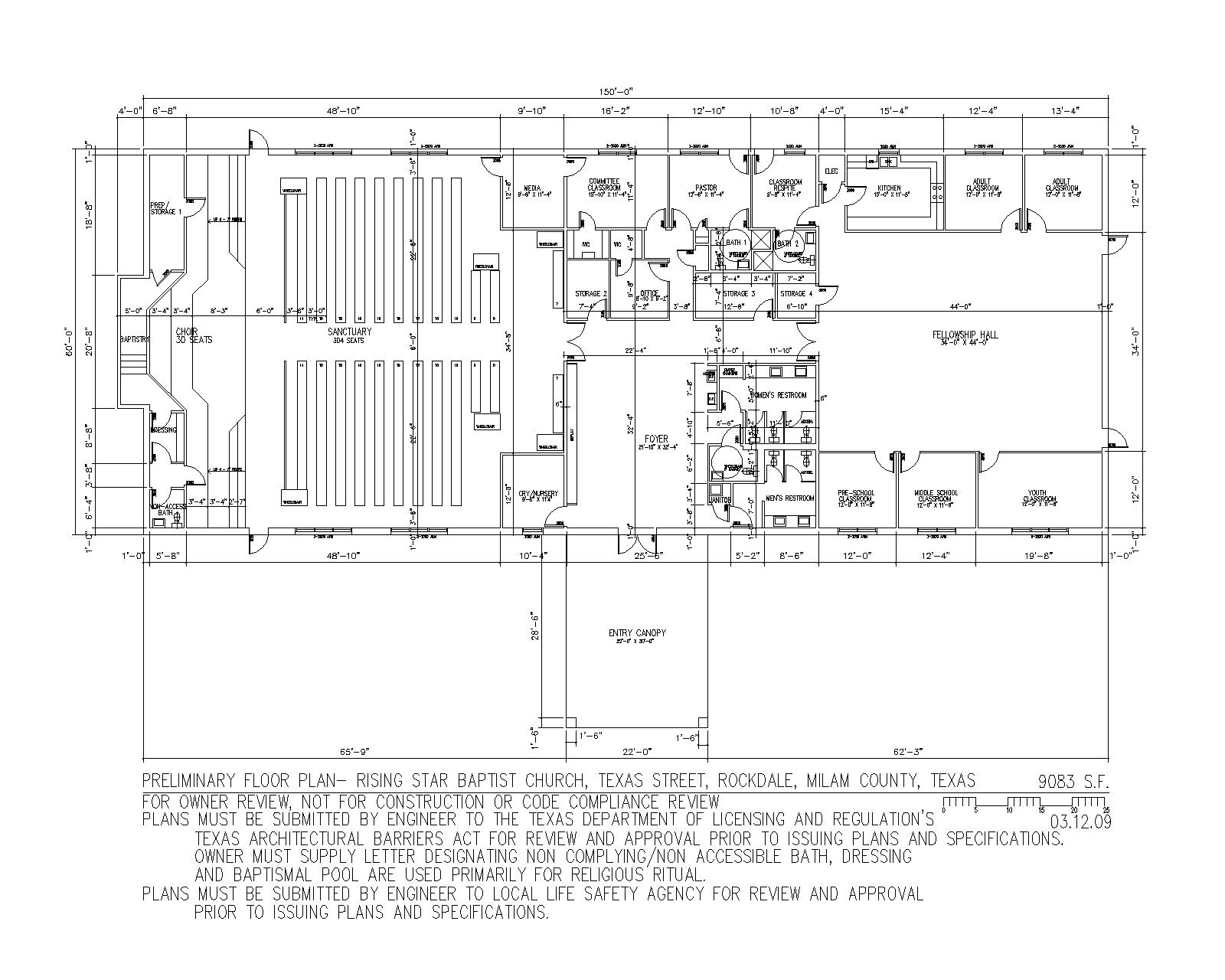 Churches Floor Plans House Design